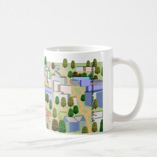 Milton Keynes bird's eye panorama mug