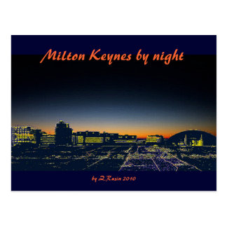 Milton Keynes by night postcard