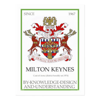 Milton Keynes Coat of Arms postcard