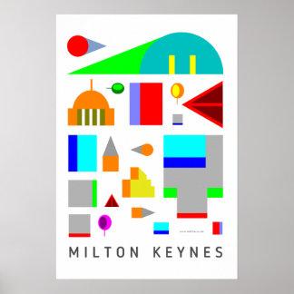 Milton Keynes creative art poster print