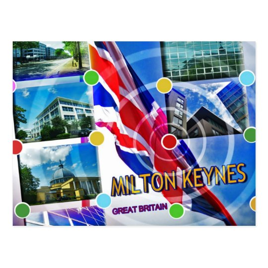 Milton Keynes Great Britain postcard