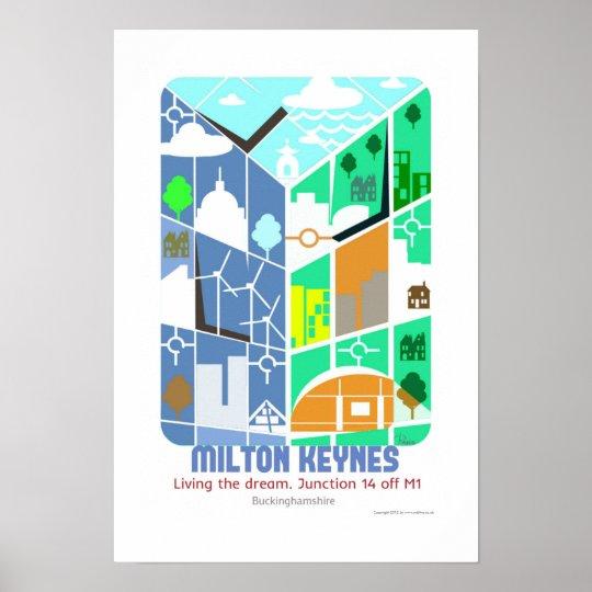 Milton Keynes Living the dream poster art