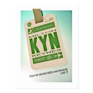 Milton Keynes luggage tag postcard