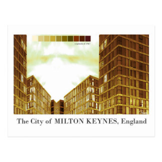 Milton Keynes modern sepia postcard