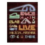 Milton Keynes Neon Lights postcard