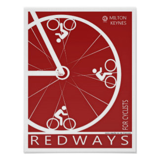 Milton Keynes Redways poster print
