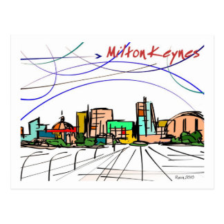 Milton Keynes sketch postcard