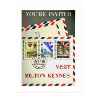 Milton Keynes travel postcard vintage style