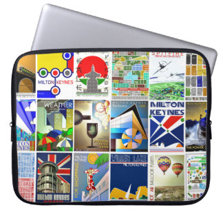 Milton Keynes travel posters laptop sleeve