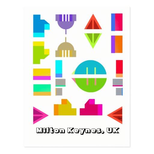 Milton Keynes urban design postcard