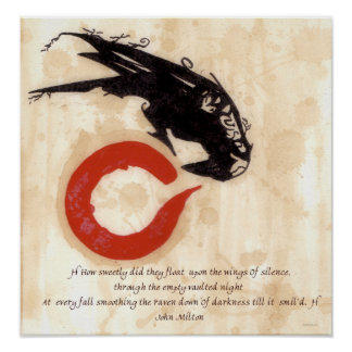Milton Raven Quote Poster