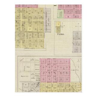 Miltonvale, Elk City, Liberty, Caney, Kansas Postcard