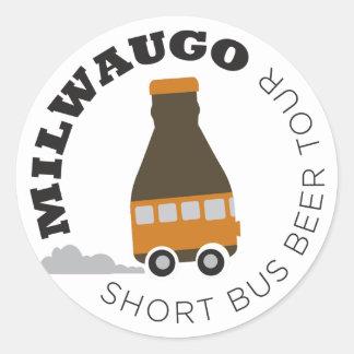 Milwaugo Bus Tour Classic Round Sticker