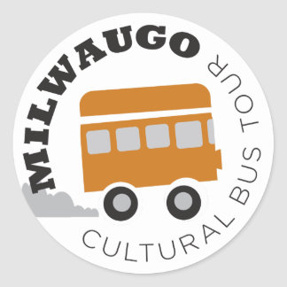Milwaugo Bus Tour Classic Round Sticker