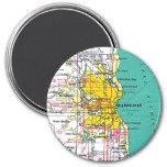Milwaukee 7.5 Cm Round Magnet