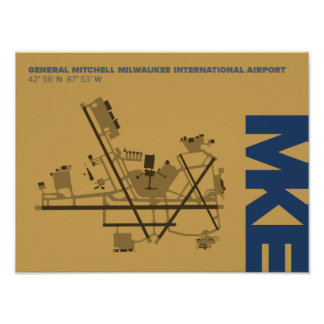 Milwaukee Airport (MKE) Diagram Poster