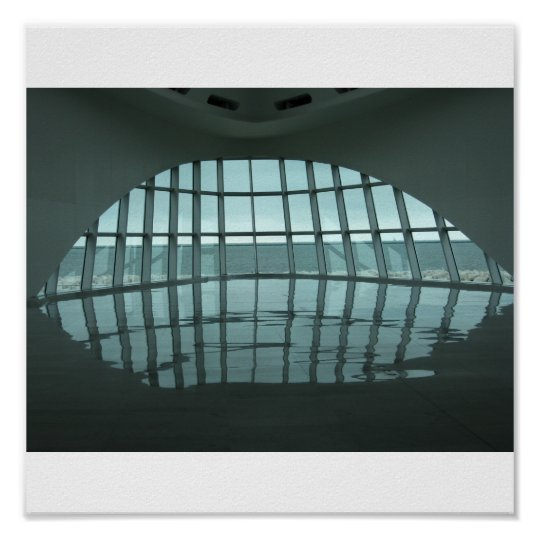 Milwaukee Art Museum Lobby Poster