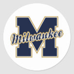 Milwaukee Letter Round Sticker