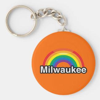 MILWAUKEE LGBT PRIDE RAINBOW KEYCHAIN