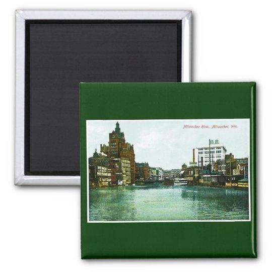 Milwaukee River, Milwaukee, Wisconsin Magnet