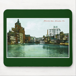 Milwaukee River, Milwaukee, Wisconsin Mouse Mat