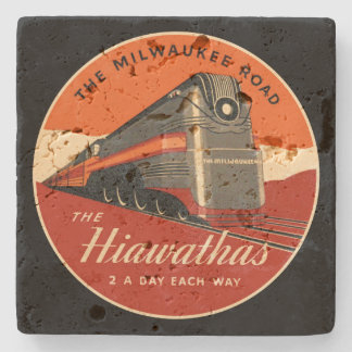 Milwaukee Road Hiawatha Train Stone Coaster