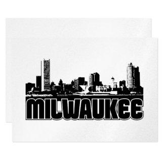 Milwaukee Skyline 13 Cm X 18 Cm Invitation Card