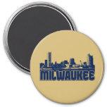 Milwaukee Skyline 7.5 Cm Round Magnet