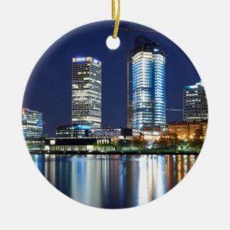Milwaukee Skyline at Night Christmas Ornament