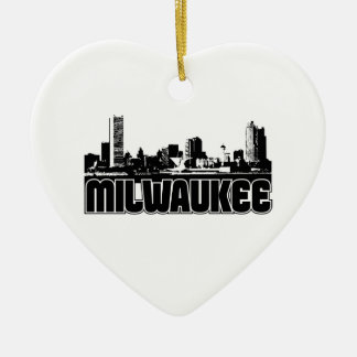 Milwaukee Skyline Christmas Ornament