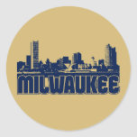 Milwaukee Skyline Round Sticker