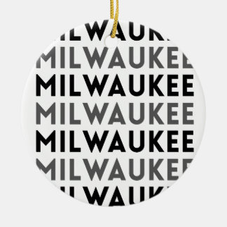 Milwaukee Tile Design Christmas Ornament