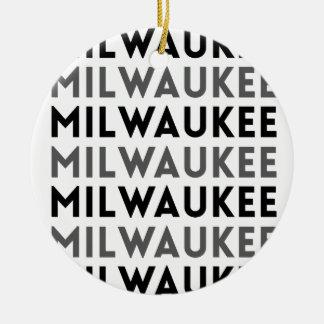Milwaukee Tile Design Round Ceramic Decoration