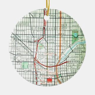 MILWAUKEE Vintage Map Christmas Ornament
