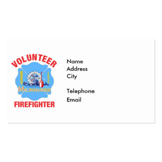 Milwaukee, WI Flag Volunteer Firefighter Cross Pack Of Standard Business Cards
