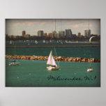Milwaukee, WI Skyline Poster