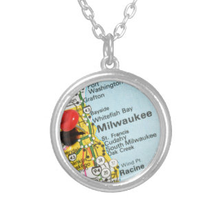 Milwaukee, Wisconsin Silver Plated Necklace