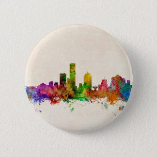 Milwaukee Wisconsin Skyline Cityscape 6 Cm Round Badge