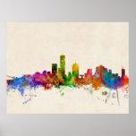Milwaukee Wisconsin Skyline Cityscape Poster