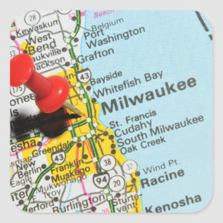Milwaukee, Wisconsin Square Sticker