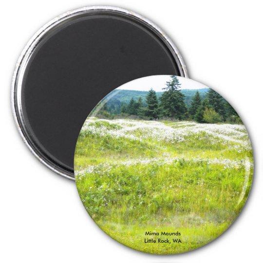 Mima Mounds, Little Rock, WA 6 Cm Round Magnet
