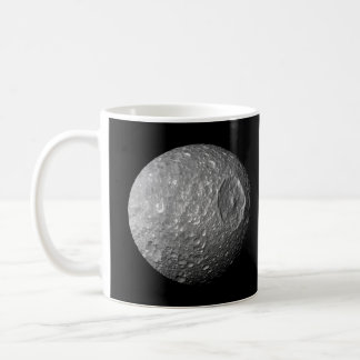 Mimas the Moon of Saturn from Cassini Spacecraft Mugs