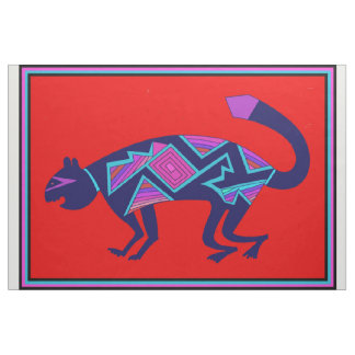 Mimbres Wild Cat Fabric Design