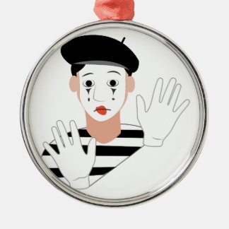 Mime Christmas Ornament