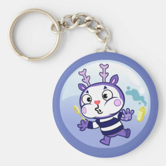 Mime in a Bubble Key Ring