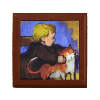 Mimi and Her Cat by Paul Gauguin Gift Box