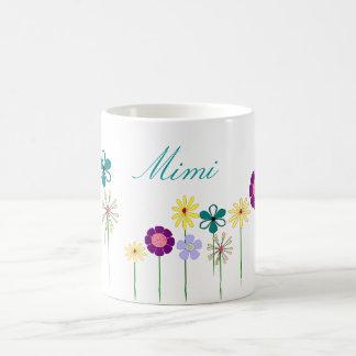 Mimi - bright flowers for her basic white mug