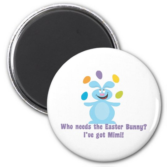 Mimi is My Easter Bunny 6 Cm Round Magnet