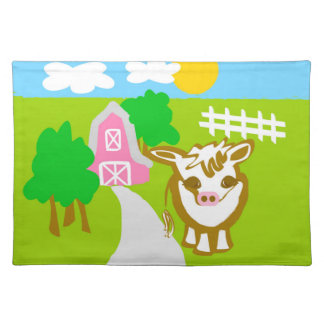 Mimi the Cow Cloth Placemat