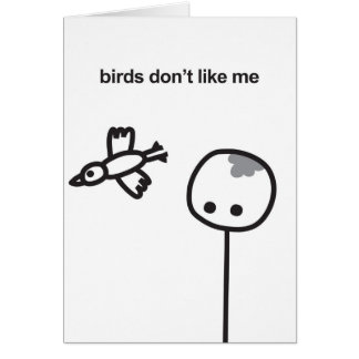 Mimie card - Fun & Laughs / Birds